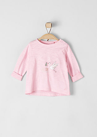 Long sleeve top with a stork print from s.Oliver