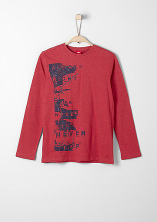 Long sleeve top with a textured print from s.Oliver