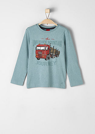 Long sleeve top with a truck motif from s.Oliver