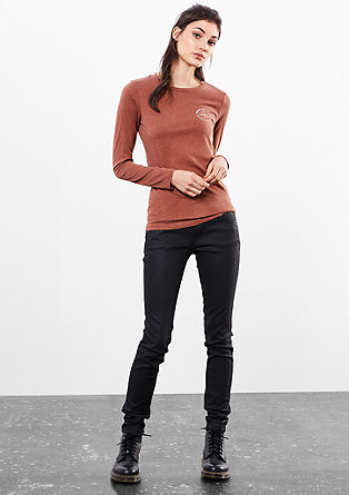 Long sleeve top with a wash effect from s.Oliver