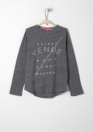 Long sleeve top with appliquéd lettering from s.Oliver