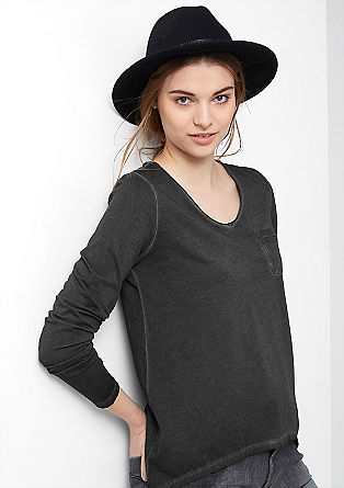 Long sleeve top with chain detail from s.Oliver