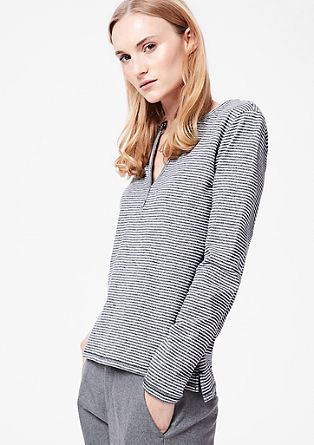 Long sleeve top with Henley neckline from s.Oliver