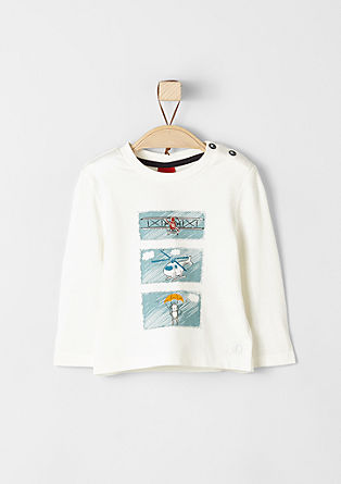 Long sleeve top with illustrations from s.Oliver
