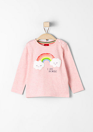 Long sleeve top with rainbow print from s.Oliver