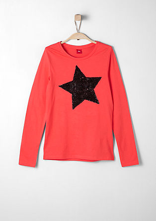 Long sleeve top with reversible sequins from s.Oliver