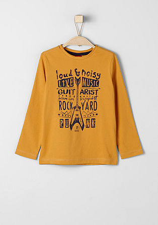 Long sleeve top with rocker printed lettering from s.Oliver