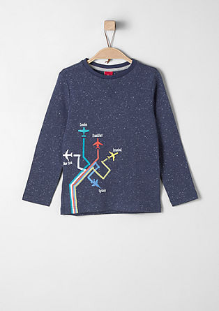 Long sleeve top with rubberised aeroplanes from s.Oliver