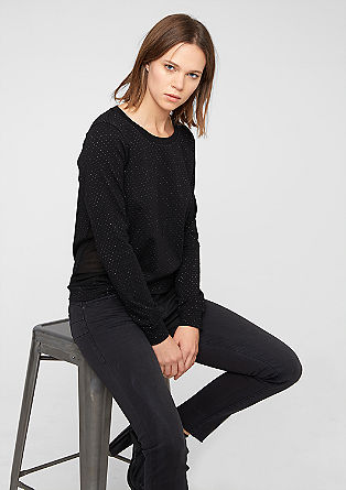 Long sleeve top with sparkly polka dots from s.Oliver