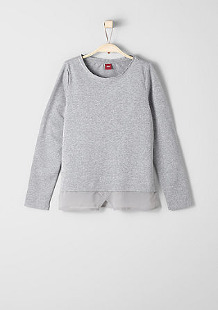 Long sleeve top with sparkly stripes from s.Oliver