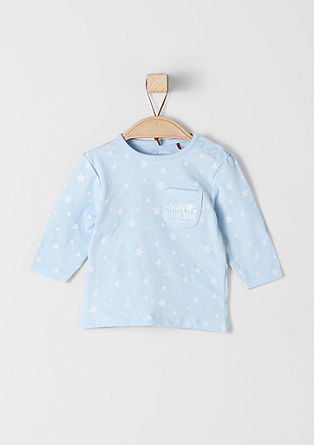 Long sleeve top with stars from s.Oliver