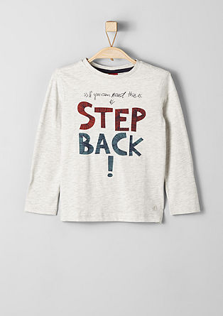 Long sleeve top with statement print from s.Oliver