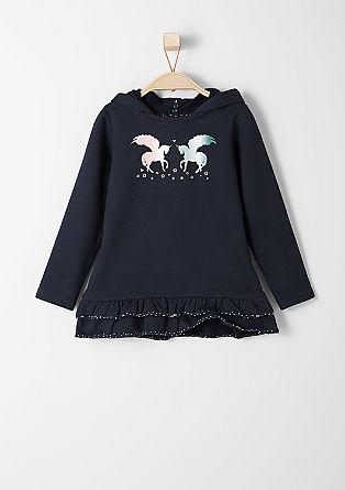 Long-Sweatshirt mit Einhörnern