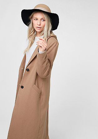 Long wool coat with a lapel from s.Oliver