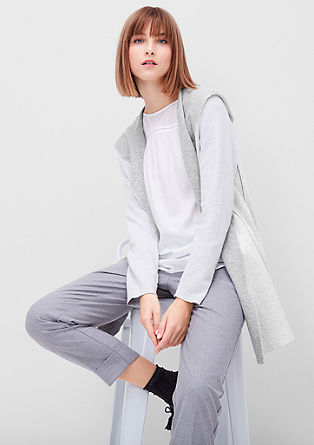 Long zip-up hoodie from s.Oliver