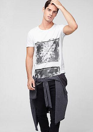Longline-Shirt mit Print