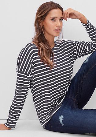 Longshirt mit Streifen