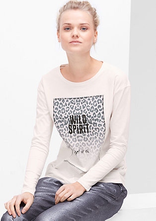 Longsleeve mit Animal-Print