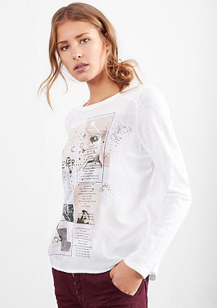 Longsleeve mit Fotoprint-Collage