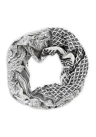 Loop mit Jacquard und Print