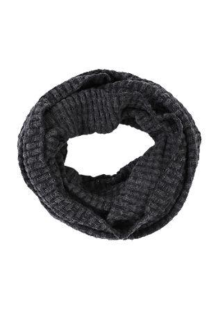 Loop šal iz pletenine s teksturo