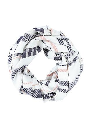 Loop šal s tkanimi črtami