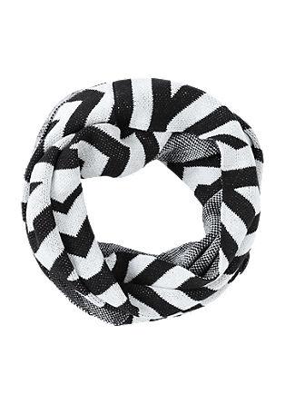 Loop šal v črno-beli