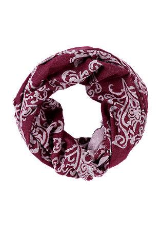 Loop-Schal mit Ornamentmuster