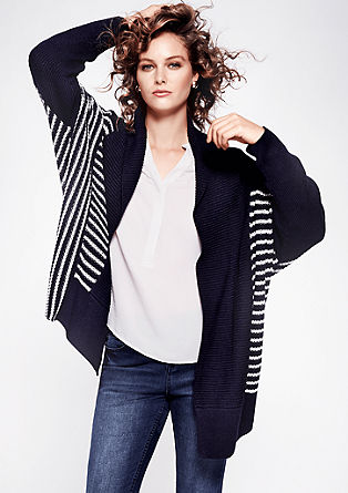 Loose cardigan with stripes from s.Oliver