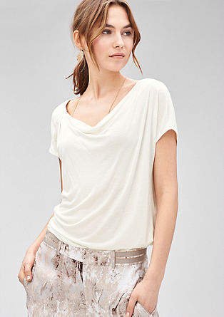 Loose cowl neck T-shirt from s.Oliver