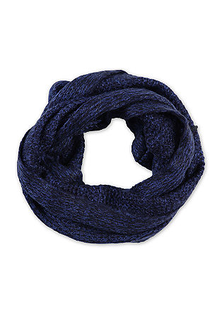 Loose knit snood with a shiny finish from s.Oliver