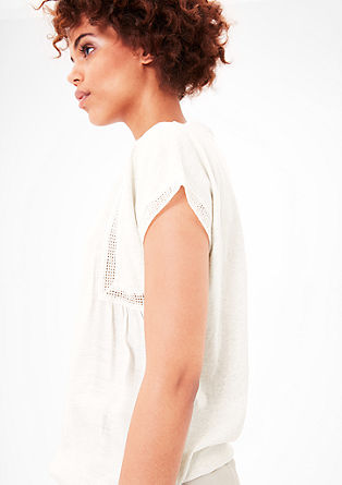 Loose T-shirt with decorative border from s.Oliver