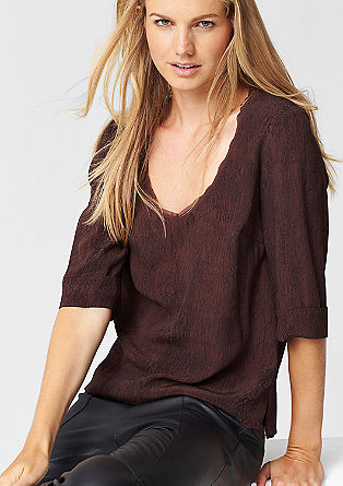 Loose viscose blouse from s.Oliver