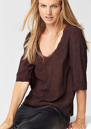 Losse viscose blouse