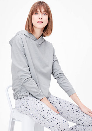 Loungewear sweatshirt with a hood from s.Oliver