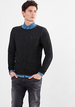 Luchtige gebreide trui met een garment-dyed wash effect