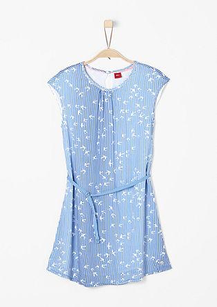 Luchtige jurk met motief all-over