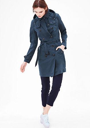 Luchtige mantel in een trenchcoat-look