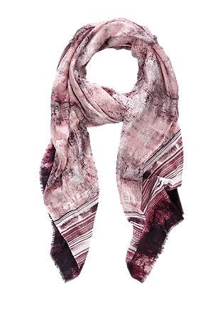 Luchtige sjaal met motiefprint