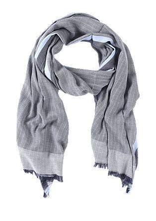 Luchtige sjaal met motiefstrepen