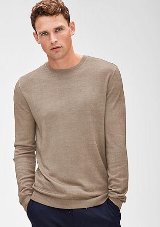Luchtige trui van merinoswol