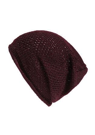 Luftig gestrickte Mütze