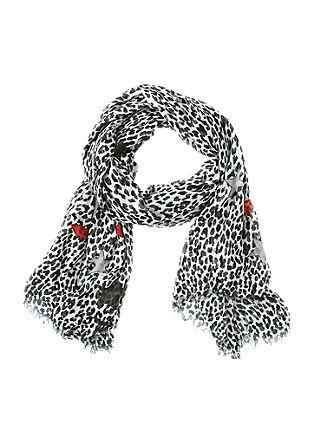Luftiger Schal mit Leo-Print
