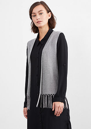 Lurex waistcoat with fringing from s.Oliver