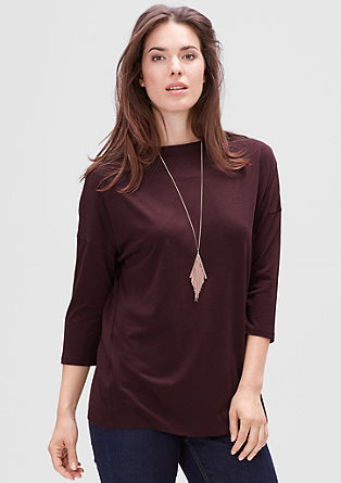 Lyocell bateau neck top from s.Oliver