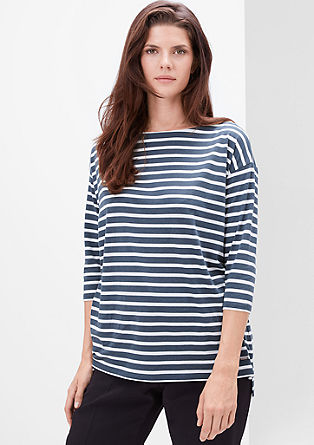 Lyocell top with stripes from s.Oliver