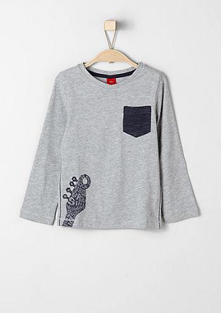 Majica dolg rokav s kontrastnimi detajli