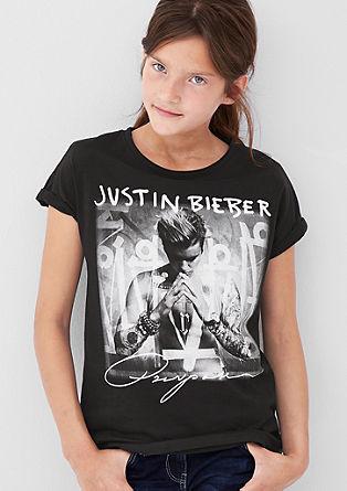 Majica dolg rokav s potiskom Justina Biebra