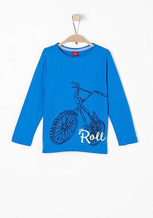 Majica dolg rokav s potiskom kolesa