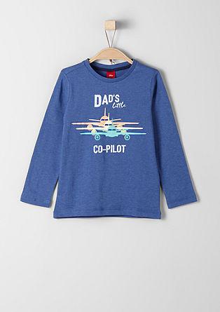 Majica dolg rokav s potiskom letala